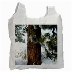 Winter Tree At Bogus Basin Recycle Bag (One Side)