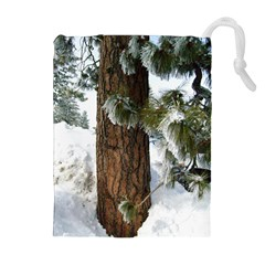 Winter Tree At Bogus Basin Drawstring Pouches (Extra Large)