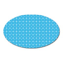 simple rectangular pattern Oval Magnet