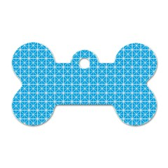 Simple Rectangular Pattern Dog Tag Bone (one Side)