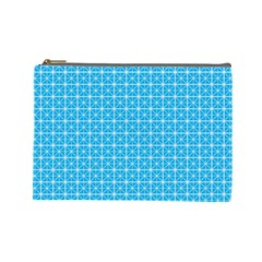 simple rectangular pattern Cosmetic Bag (Large)