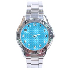 simple rectangular pattern Stainless Steel Analogue Watch