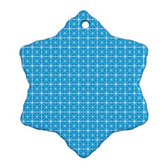 simple rectangular pattern Snowflake Ornament (Two Sides)