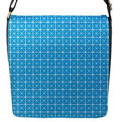 simple rectangular pattern Flap Messenger Bag (S)