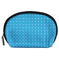 simple rectangular pattern Accessory Pouches (Large)
