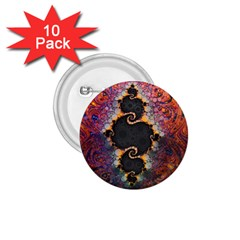 The Eye Of Julia, A Rainbow Fractal Paint Swirl 1.75  Buttons (10 pack)