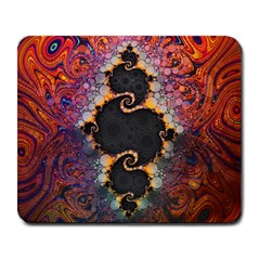 The Eye Of Julia, A Rainbow Fractal Paint Swirl Large Mousepads