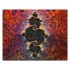 The Eye Of Julia, A Rainbow Fractal Paint Swirl Rectangular Jigsaw Puzzl