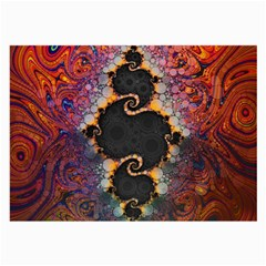 The Eye Of Julia, A Rainbow Fractal Paint Swirl Large Glasses Cloth