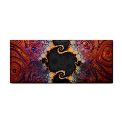 The Eye Of Julia, A Rainbow Fractal Paint Swirl Cosmetic Storage Cases