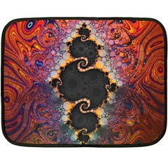 The Eye Of Julia, A Rainbow Fractal Paint Swirl Fleece Blanket (Mini)