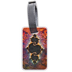 The Eye Of Julia, A Rainbow Fractal Paint Swirl Luggage Tags (two Sides)