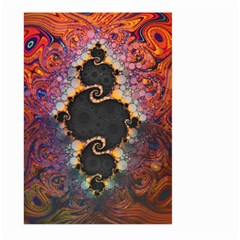The Eye Of Julia, A Rainbow Fractal Paint Swirl Large Garden Flag (Two Sides)