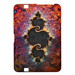 The Eye Of Julia, A Rainbow Fractal Paint Swirl Kindle Fire HD 8.9