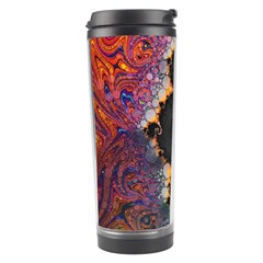 The Eye Of Julia, A Rainbow Fractal Paint Swirl Travel Tumbler