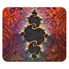 The Eye Of Julia, A Rainbow Fractal Paint Swirl Double Sided Flano Blanket (Small)