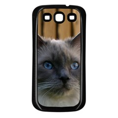 Ragdoll, Blue Samsung Galaxy S3 Back Case (black)