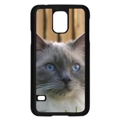 Ragdoll, Blue Samsung Galaxy S5 Case (Black)
