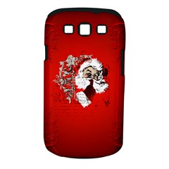 Funny Santa Claus  On Red Background Samsung Galaxy S III Classic Hardshell Case (PC+Silicone)