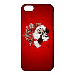Funny Santa Claus  On Red Background Apple iPhone 5C Hardshell Case