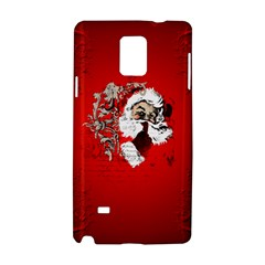 Funny Santa Claus  On Red Background Samsung Galaxy Note 4 Hardshell Case