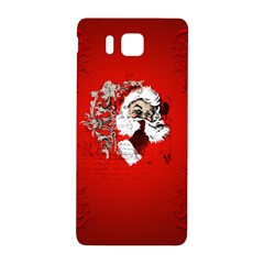 Funny Santa Claus  On Red Background Samsung Galaxy Alpha Hardshell Back Case