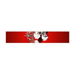 Funny Santa Claus  On Red Background Flano Scarf (Mini)