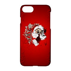 Funny Santa Claus  On Red Background Apple iPhone 7 Hardshell Case
