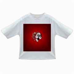 Funny Santa Claus  On Red Background Infant/Toddler T-Shirts