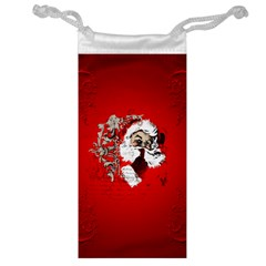 Funny Santa Claus  On Red Background Jewelry Bag