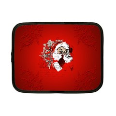 Funny Santa Claus  On Red Background Netbook Case (Small)