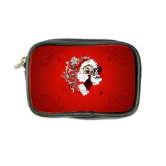 Funny Santa Claus  On Red Background Coin Purse