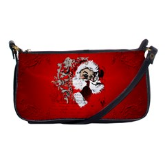 Funny Santa Claus  On Red Background Shoulder Clutch Bags