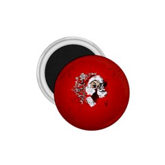 Funny Santa Claus  On Red Background 1.75  Magnets