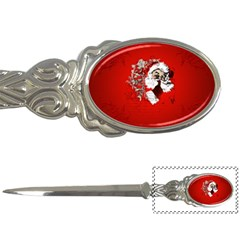 Funny Santa Claus  On Red Background Letter Openers
