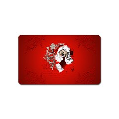 Funny Santa Claus  On Red Background Magnet (Name Card)