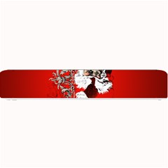 Funny Santa Claus  On Red Background Small Bar Mats