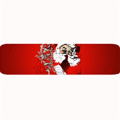 Funny Santa Claus  On Red Background Large Bar Mats