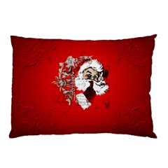 Funny Santa Claus  On Red Background Pillow Case