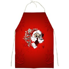 Funny Santa Claus  On Red Background Full Print Aprons