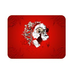 Funny Santa Claus  On Red Background Double Sided Flano Blanket (Mini)