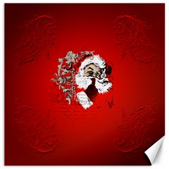 Funny Santa Claus  On Red Background Canvas 20  x 20