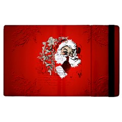 Funny Santa Claus  On Red Background Apple iPad 2 Flip Case