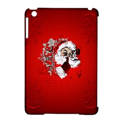 Funny Santa Claus  On Red Background Apple iPad Mini Hardshell Case (Compatible with Smart Cover)