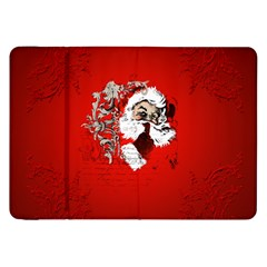 Funny Santa Claus  On Red Background Samsung Galaxy Tab 8.9  P7300 Flip Case
