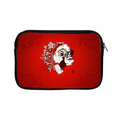 Funny Santa Claus  On Red Background Apple iPad Mini Zipper Cases