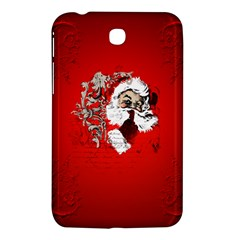 Funny Santa Claus  On Red Background Samsung Galaxy Tab 3 (7 ) P3200 Hardshell Case