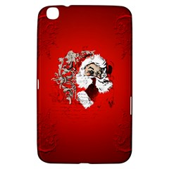 Funny Santa Claus  On Red Background Samsung Galaxy Tab 3 (8 ) T3100 Hardshell Case