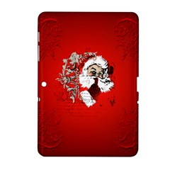 Funny Santa Claus  On Red Background Samsung Galaxy Tab 2 (10.1 ) P5100 Hardshell Case
