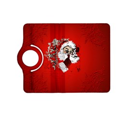 Funny Santa Claus  On Red Background Kindle Fire HD (2013) Flip 360 Case